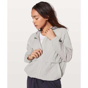 Lululemon Gray Hood Lite Chrome Jacket